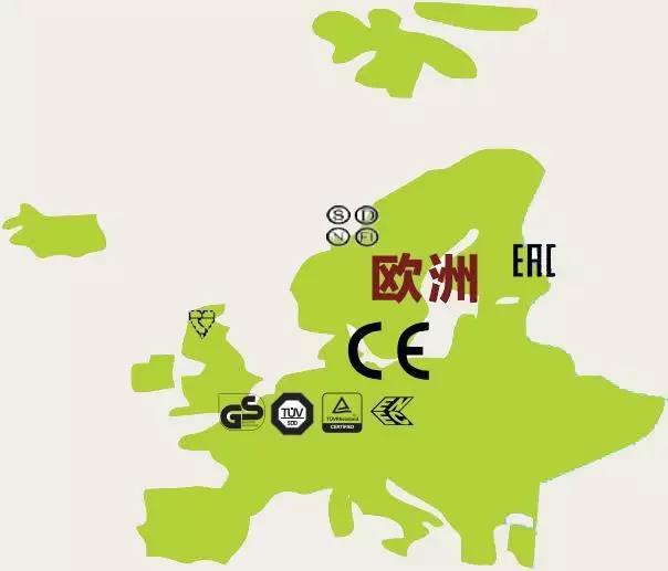 欧洲认证地图