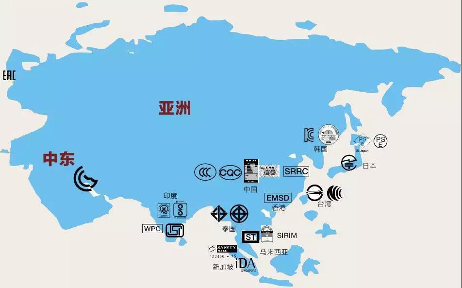 亚洲认证地图